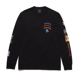 HUF BULLET LONG SLEEVE T-SHIRT BLACK