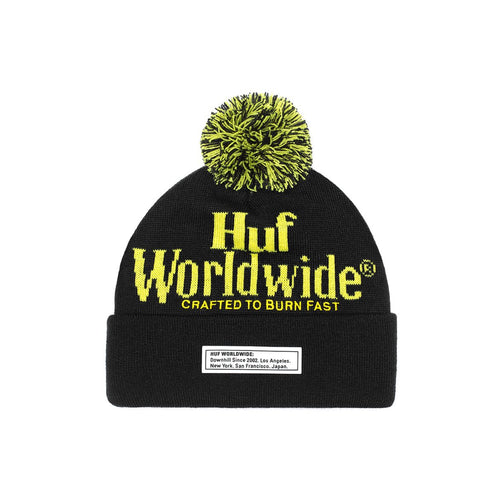 HUF Burn Fast Beanie Mens Beanie Black