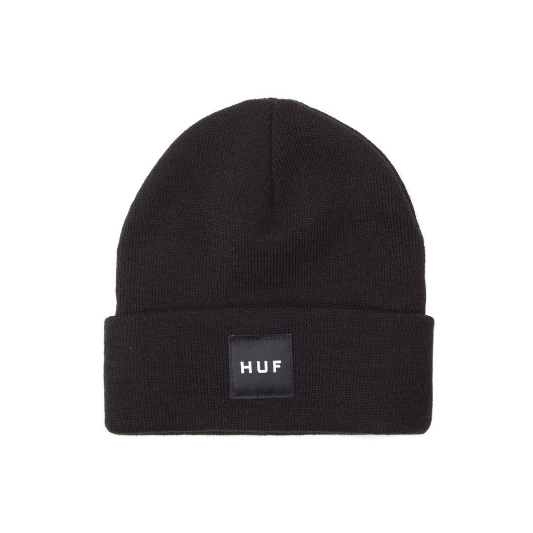 HUF Box Logo Beanie Mens Beanie Black