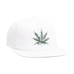 HUF Censored Snapback Hat White