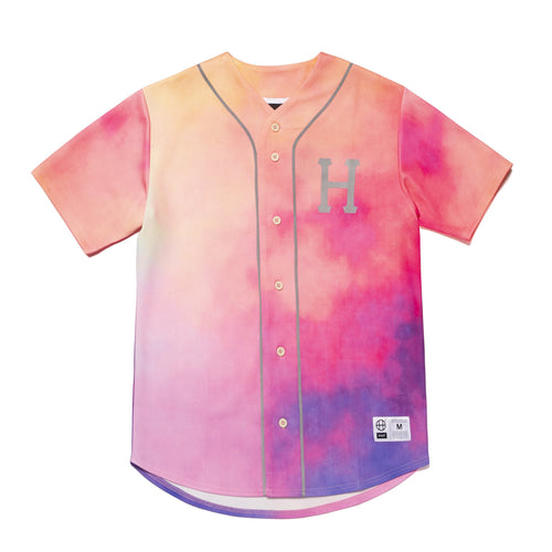 HUF Classic H Reflective Baseball Jersey Coral Pink
