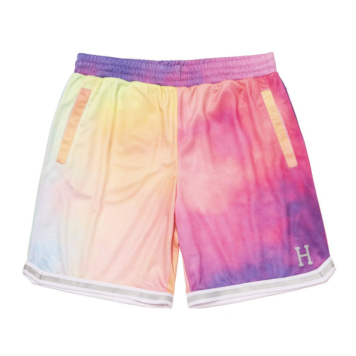 HUF Classic H Reflective Basketball Short Coral Pink