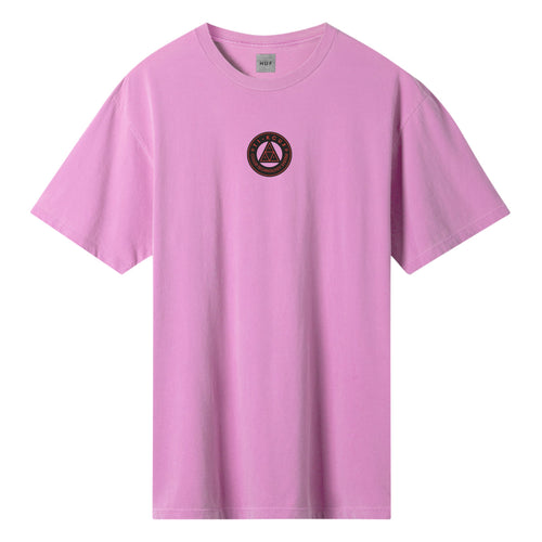 HUF Colour Tech Triple Triangle T-Shirt Hot Pink