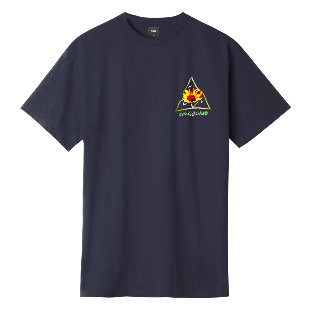 Huf Come Down Triple Triangle T-shirt French Navy