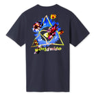 Load image into Gallery viewer, Huf Come Down Triple Triangle T-shirt French Navy