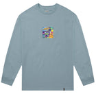 Load image into Gallery viewer, HUF Comics Box Logo Long Sleeve T Shirt Mens Ls Tee Cloud Blue