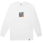 Load image into Gallery viewer, HUF Comics Box Logo Long Sleeve T Shirt Mens Ls Tee White