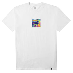 HUF Comics Box Logo T Shirt Mens Tee White