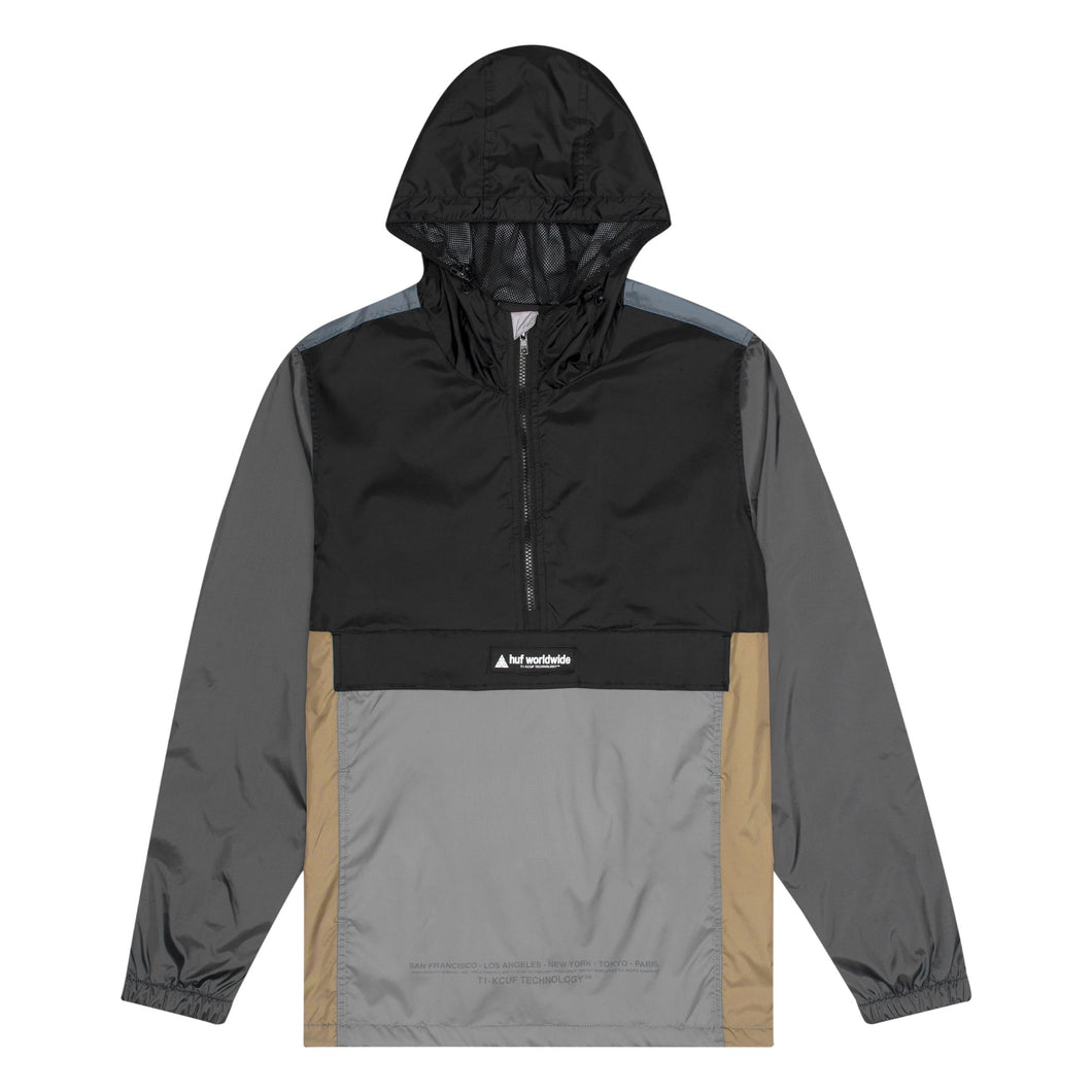 HUF Coyote Trail Anorak Mens Jacket Black