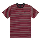 Load image into Gallery viewer, HUF Davis Striped Short Sleeve Knit Top Mens Ss Knitwear Red Pear