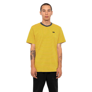 HUF Davis Striped Short Sleeve Knit Top Mens Ss Knitwear Sauterne