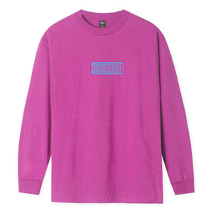 HUF Deja Vu Long Sleeve T-Shirt Coral