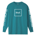 Load image into Gallery viewer, HUF Domestic Long Sleeve T Shirt Mens Ls Tee Quetzal Green