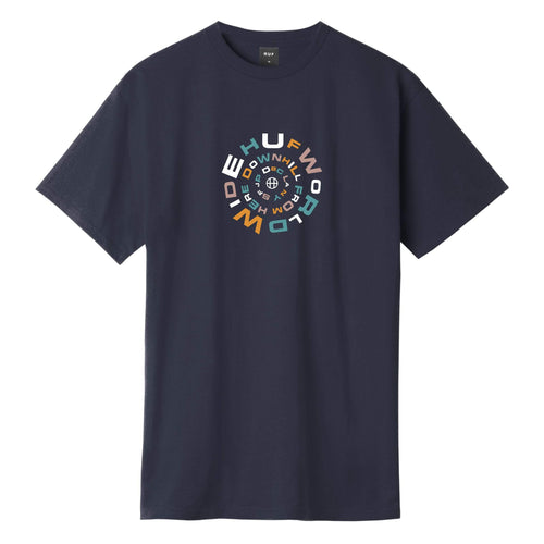 Huf Downward Spiral T-shirt French Navy