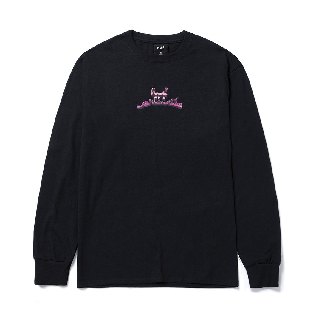 HUF Drinking With The Devil Long Sleeve Tee Black