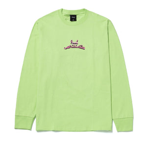 HUF Drinking With The Devil Long Sleeve Tee Lime