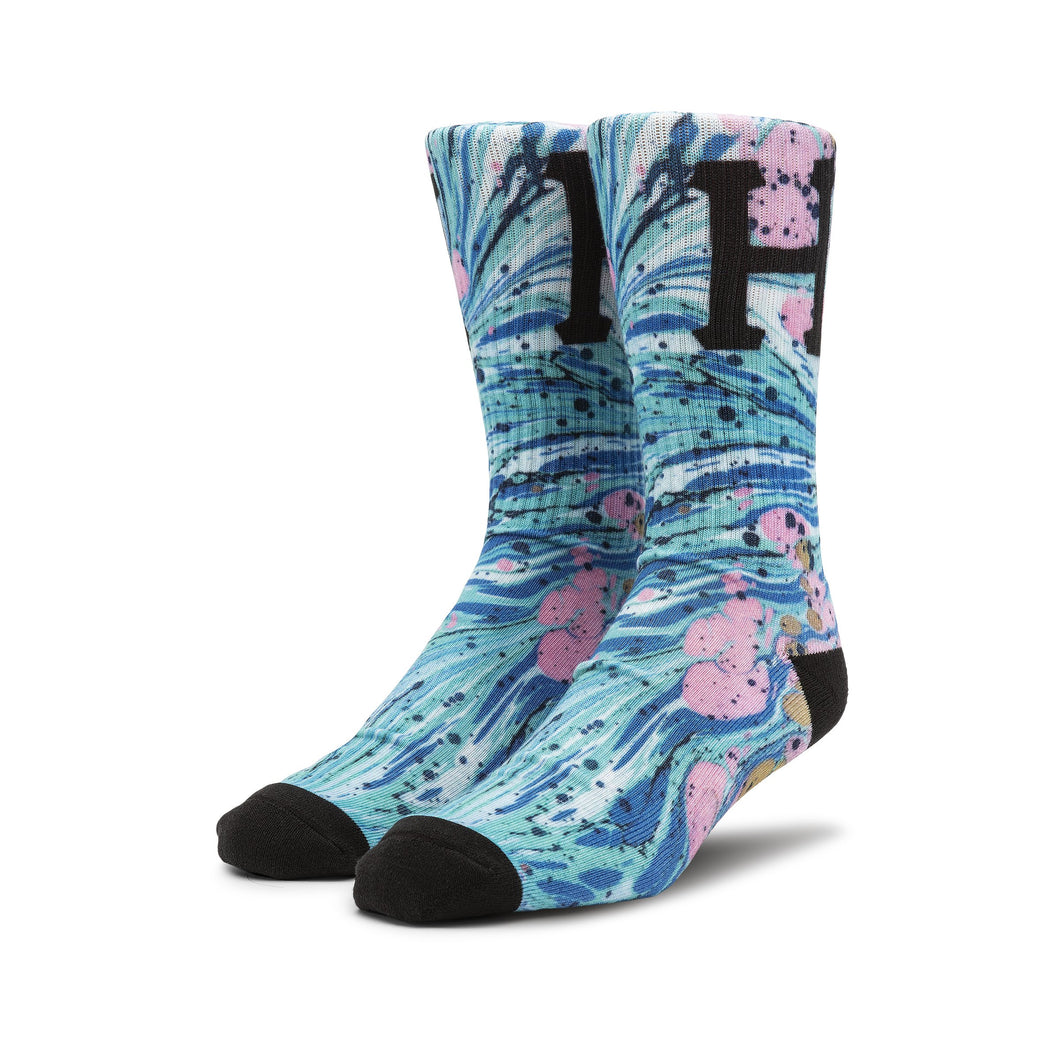 HUF Drip Digital Sock Pacific Blue