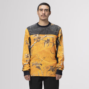 HUF Endo Long Sleeve Jersey Realtree Orange