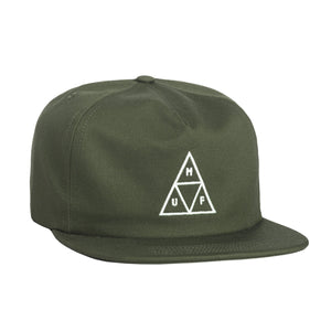 HUF Unstructured Triple Triangle Snapback Military Green