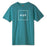 HUF ESSENTIALS BOX LOGO T SHIRT MENS LOGO TEE POPPY