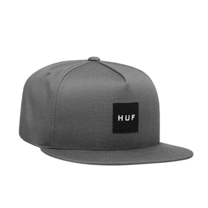 HUF Essentials Box Snapback Hat Mens Cap Charcoal