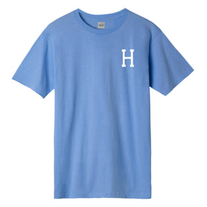 HUF Essentials Classic H T-Shirt Mens Printed Tee Greek Blue