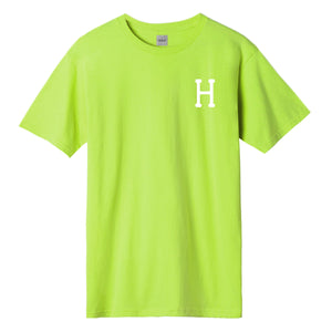 HUF Essentials Classic H T-Shirt Mens Printed Tee Hot Lime