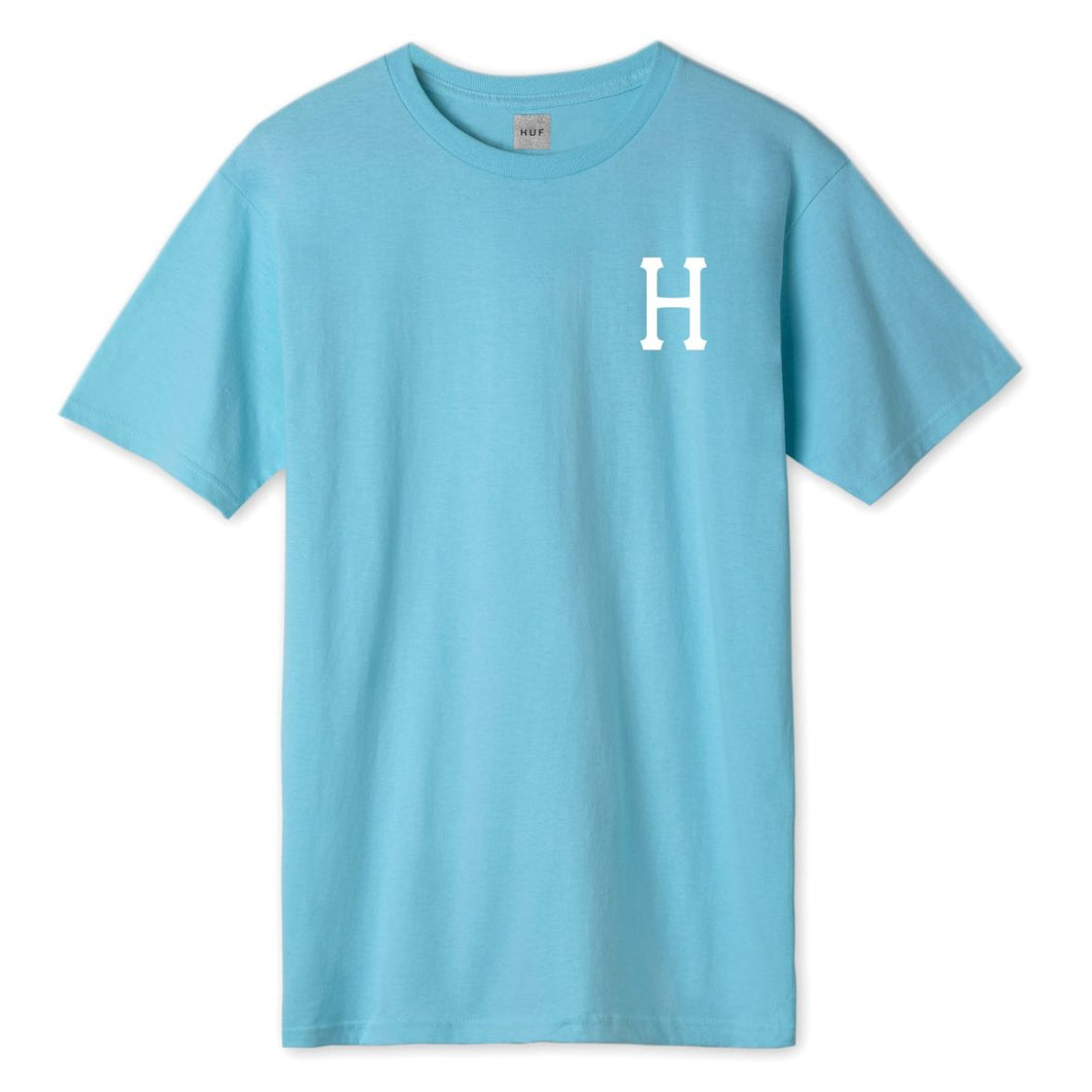 HUF Essentials Classic H T-Shirt Mens Printed Tee Turqouise
