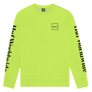 HUF Essentials Domestic Crew Mens Sweater Hot Lime