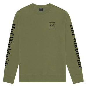 HUF Domestic Crew Military Green