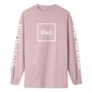 HUF Domestic Long Sleeve T-Shirt Mens LS Tee Coral Pink