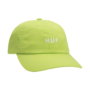 HUF Essentials Og Logo Curved Visor Hat Hot Lime
