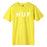 HUF ESSENTIALS OG LOGO T SHIRT MENS LOGO TEE BLAZING YELLOW