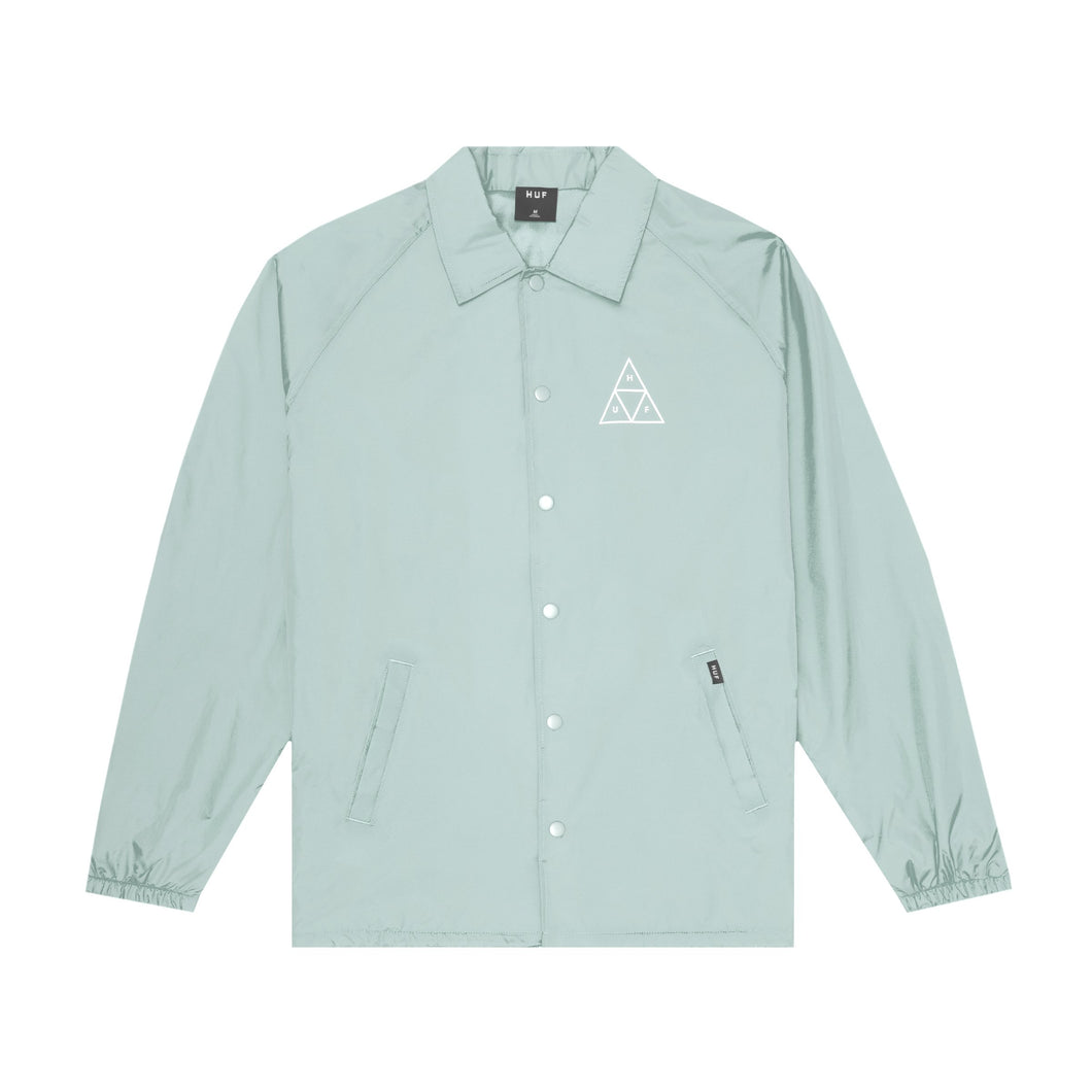 HUF Essentials Triple Triangle Coaches Jacket Mens Jacket Harbor Grey