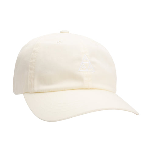 HUF Essentials Triple Triangle Curved Visor Hat Off White