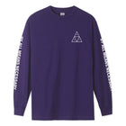 Load image into Gallery viewer, HUF Essentials Triple Triangle Long Sleeve T-Shirt Mens LS Tee Grape
