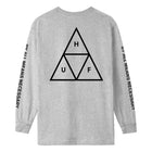 Load image into Gallery viewer, HUF Essentials Triple Triangle Long Sleeve T Shirt Mens Ls Tee Grey Heather
