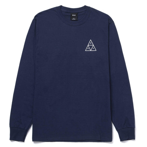 HUF Essential Triple Triangle Long Sleeve T-Shirt Navy