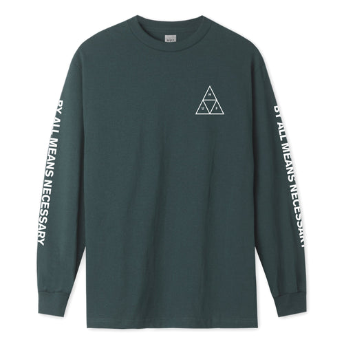 HUF Essentials Triple Triangle Long Sleeve T-Shirt Mens LS Tee Sycamore