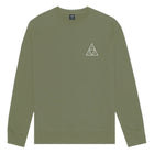 Load image into Gallery viewer, HUF Essentials Triple Triangle Crew Mens Sweater Martini Olive