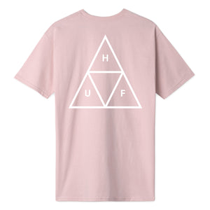 HUF Essentials Triple Triangle T-Shirt Mens Printed Tee Coral Pink
