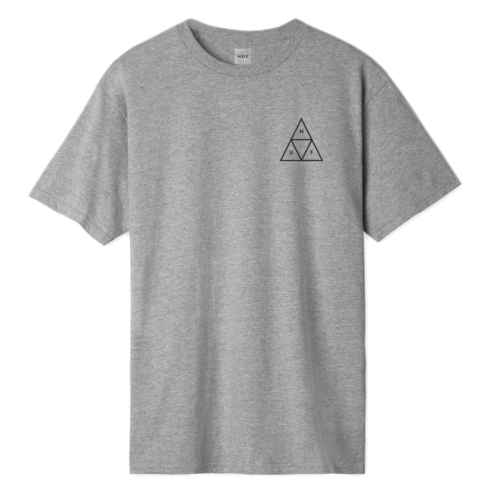 HUF Essentials Triple Triangle T Shirt Mens Tee Grey Heather
