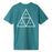 HUF Essentials Triple Triangle T Shirt Mens Tee Quetzal Green