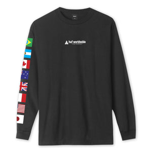Huf Flag Union Long Sleeve T-shirt Black