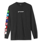 Load image into Gallery viewer, Huf Flag Union Long Sleeve T-shirt Black