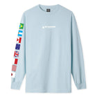 Load image into Gallery viewer, Huf Flag Union Long Sleeve T-shirt Light Blue