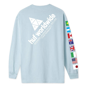Huf Flag Union Long Sleeve T-shirt Light Blue