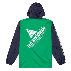 Huf Flags Anorak Jacket French Navy
