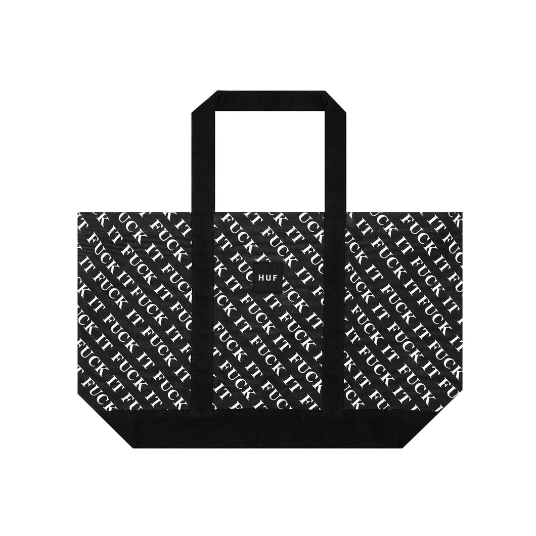 HUF Fuck It Tote Black