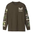 Load image into Gallery viewer, HUF GARDEN SUPPLY LONG SLEEVE T-SHIRT DARK CHOCOLATE